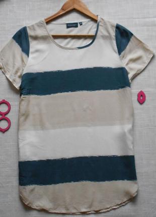 Стильная полосатая удлиненная блуза р м