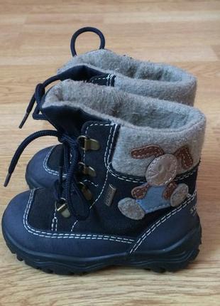 Зимние термо ботинки superfit австрия 21 размера с мембраной gore-tex в отличном состоянии