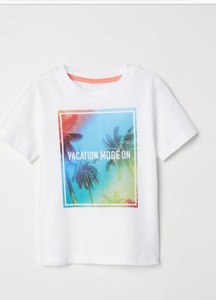 Новая футболка h&m 4-6
