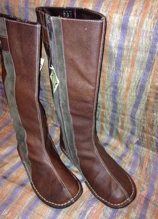 Новые кожаные сапоги sole diva  р. 37 на широкую ножку.