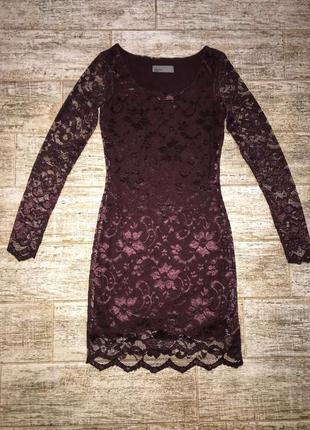 Кружевное платье vero moda xs
