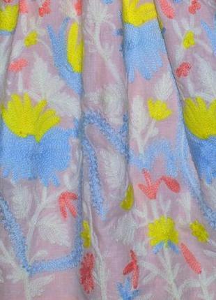 """Платье с вышитыми цветами """"little miss""""2"""