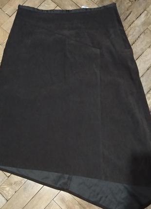 Интересная асимметричная коричневая юбка