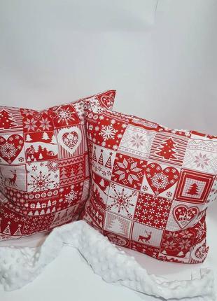 Подушки новогодние. праздничный декор