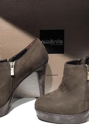 Ботинки ботильйоны nila & nila коричневые 39