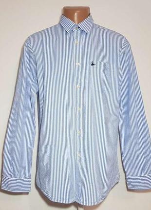 Рубашка jack wills, 100% хлопок, l, как новая!
