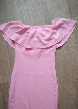 Элегантное платье нежного пудрового цвета