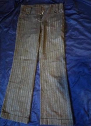 Нарядные штаны кюлоты палаццо высокая посадка люрекс