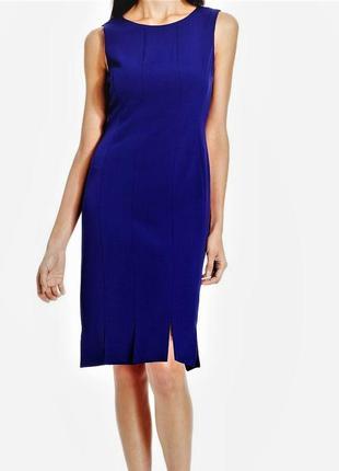 """Элегантное платье с множественными маленькими """"летящими""""разрезами по подолу ( 44-46)"""