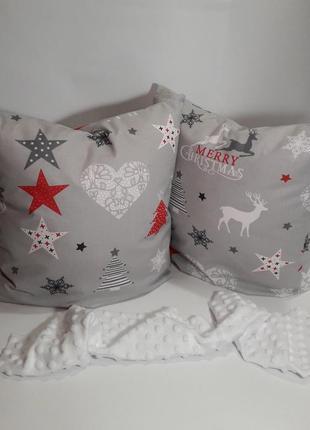 Новогодние подушки с оленями