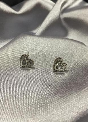 Серебряные серьги гвоздик