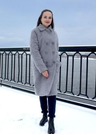 Новогодний сейл_пальто-шуба зимняя_xs-s-m