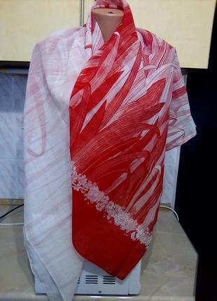 Американская тонкая шаль 114 на 130 см, lady hamilton, дорогой вид