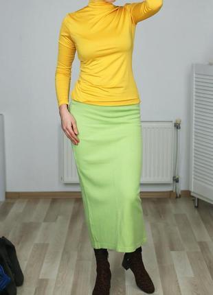Трикотажная,котоновая юбка карандаш-в рубчик,высокая посадка,m-l