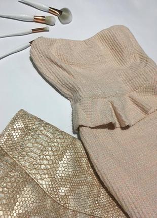 Коктейльное платье-баска zara