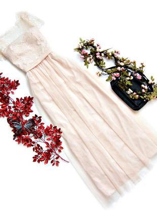 Вечернее, нежное платье