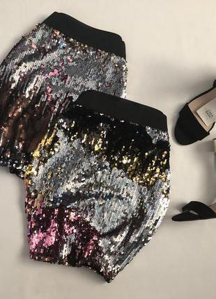 Изысканная юбка с двусторонними пайетками