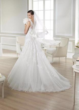 """Невероятно красивое свадебное платье со шлейфом """"jaia"""" цвет айвори,"""