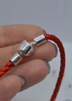 Красный браслет, #шарм_браслет, #для_бусин, #оберег, #красная_нить, #925, #унисекс, 18см