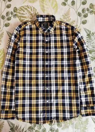 Бредовая теплая рубашка в клетку f&f