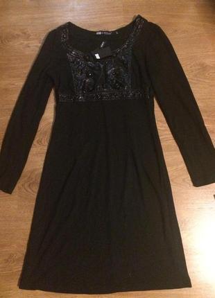 Красивое черное платье р.м  распродажа