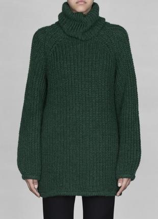 Мега тёплый свитер гольф шерсть альпака оверсайз