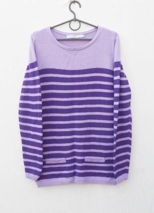 Зимний осенний шерстяной свитер с длинным рукавом