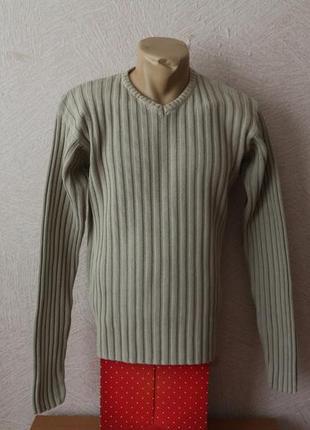Натуральный, теплый пуловер, джемпер, свитер от h&m, швеция, р.m-l- оригинал