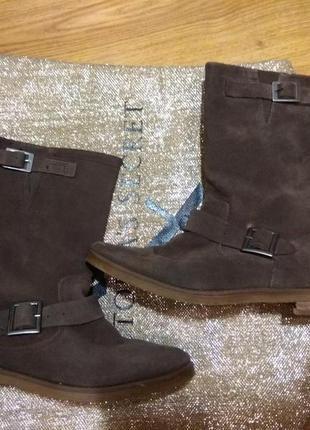 Замшевые деми ботинки 25.5си1