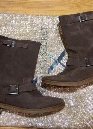 Замшевые деми ботинки 25.5си2