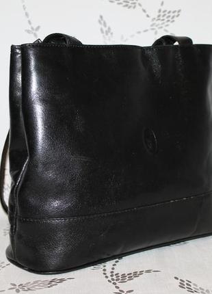 Классическая кожаная сумка на два отделения