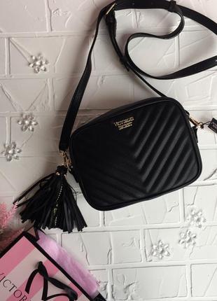 Сумка victoria's secret оригинал кроссбоди сумка на пояс чёрная сумочка через плече