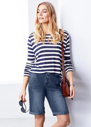 Бомбезные джинсовые женские шортики р. s-ка 38евро 44наш тсм tchibo