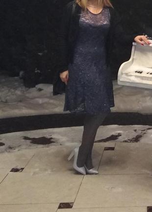 Вечірнє плаття сіре люрекс
