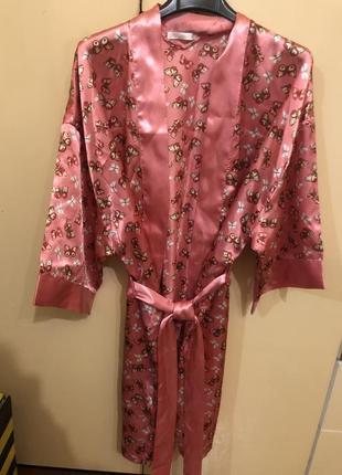 Шелковый халат oggi