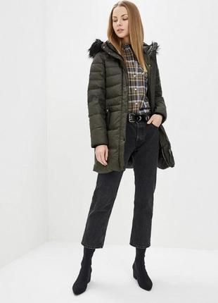 Пуховик/куртка/парка/курточка зимняя хаки 2018 с поясом
