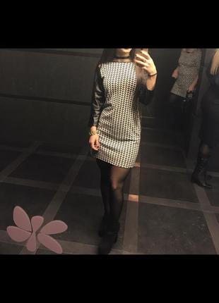 Платье рукава эко кожа ))