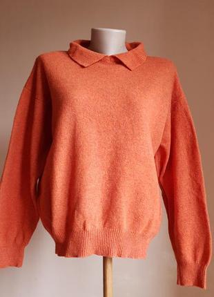 Горчичный свитер шерсть lambswool coutry trader англия