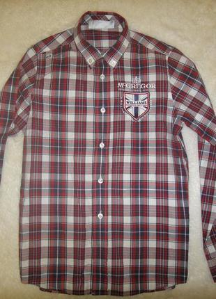 Новая фирменная хлопковая рубашка mcgregor на мальчика р. 152 хлопок