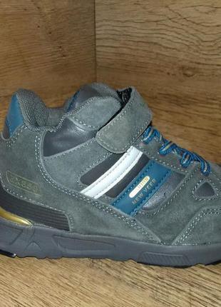 Кроссовки ботинки зимние детские veer, натуральная кожа, замш+мех, 31-35