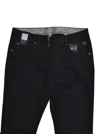 Черные плотные штаны джинсы  double face