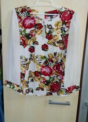Блуза шифон. вышиванка