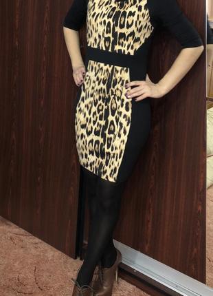 Платье с леопардовым принтом,zara