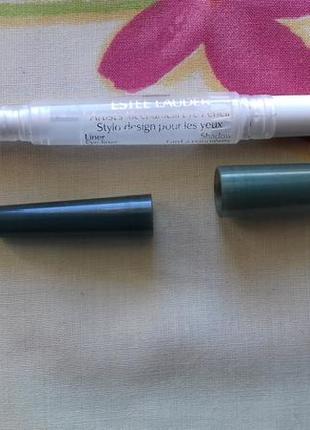 Двухсторонний оливковый карандаш тени для глаз оливковые стойкие естилаудер estee lauder