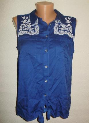 Красивая вискозная блуза с вышивкой штапель 14/48-50 размера