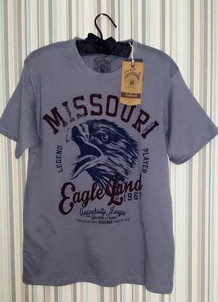 Мужская хлопковая футболка carry casual м/46-48 размер