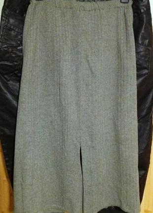 Теплая меланжевая натуральная  юбка,44-48разм.