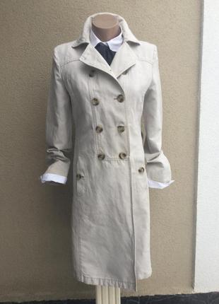 Тренч,плащ,пальто из плотной,льняной ткани,без подкладки,люкс бренд,оригинал,max mara