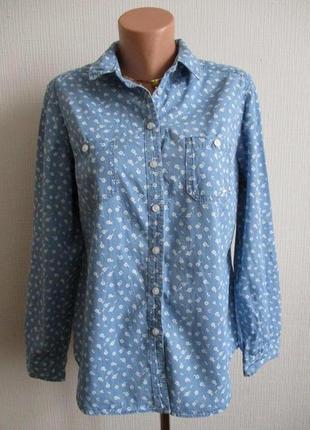 Хлопковая рубашка в цветочный принт country rose ewm