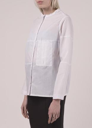 Дизайнерская рубашка свободного кроя с асимметричными декоративными швами опт